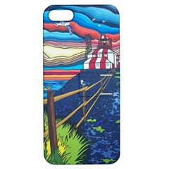 Cape Bonavista Lighthouse Apple Iphone 5 Hardshell Case With Stand