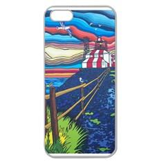 Cape Bonavista Lighthouse Apple Seamless iPhone 5 Case (Clear)