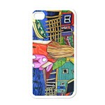 Blue Door And Stuffed Bunny Apple iPhone 4 Case (White) Front
