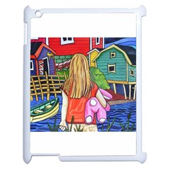 Blue Door And Stuffed Bunny Apple Ipad 2 Case (white)