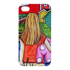 Blue Door And Stuffed Bunny Apple Iphone 4/4s Hardshell Case