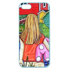 Blue Door And Stuffed Bunny Apple Seamless Iphone 5 Case (color)