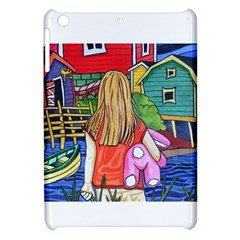 Blue Door And Stuffed Bunny Apple Ipad Mini Hardshell Case
