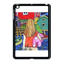 Blue Door And Stuffed Bunny Apple iPad Mini Case (Black)