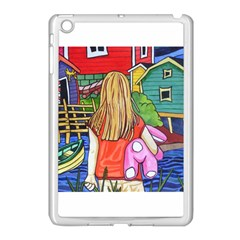 Blue Door And Stuffed Bunny Apple Ipad Mini Case (white)