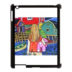 Blue Door And Stuffed Bunny Apple iPad 3/4 Case (Black)