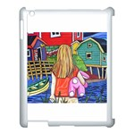Blue Door And Stuffed Bunny Apple iPad 3/4 Case (White) Front