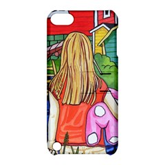 Blue Door And Stuffed Bunny Apple iPod Touch 5 Hardshell Case with Stand