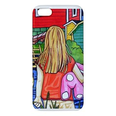 Blue Door And Stuffed Bunny Iphone 5 Premium Hardshell Case