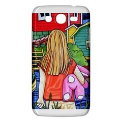 Blue Door And Stuffed Bunny Samsung Galaxy Mega 5 8 I9152 Hardshell Case