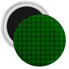 Green Weave 3  Button Magnet