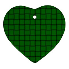 Green Weave Heart Ornament