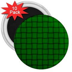 Green Weave 3  Button Magnet (10 pack)
