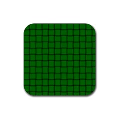 Green Weave Drink Coaster (Square)