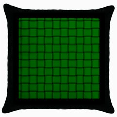 Green Weave Black Throw Pillow Case