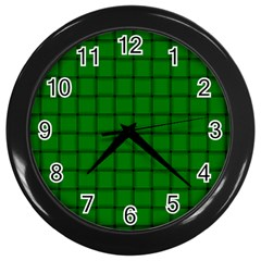 Green Weave Wall Clock (Black)
