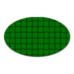 Green Weave Magnet (Oval)