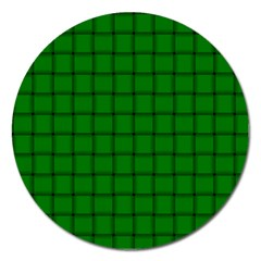 Green Weave Magnet 5  (Round)