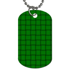 Green Weave Dog Tag (two Sided)