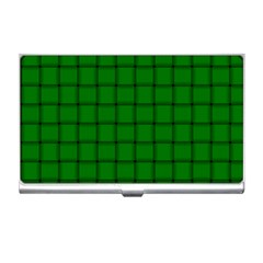 Green Weave Business Card Holder