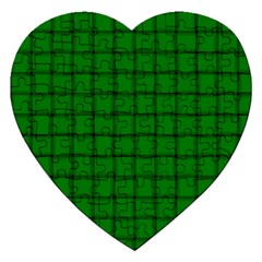 Green Weave Jigsaw Puzzle (Heart)