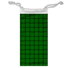 Green Weave Jewelry Bag