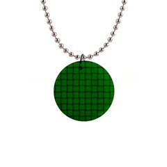 Green Weave Button Necklace