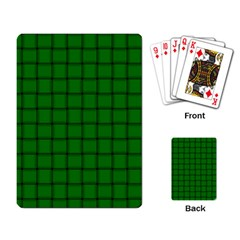 Green Weave Playing Cards Single Design