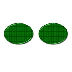 Green Weave Cufflinks (Oval)