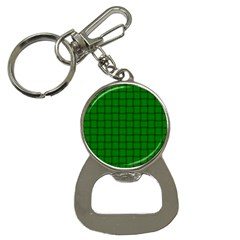 Green Weave Bottle Opener Key Chain