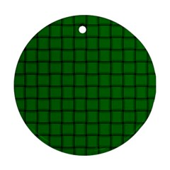 Green Weave Round Ornament (Two Sides)