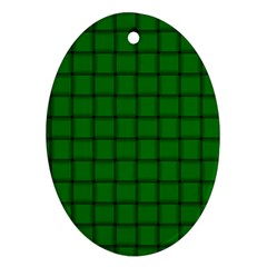 Green Weave Oval Ornament (Two Sides)