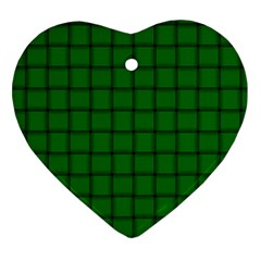 Green Weave Heart Ornament (Two Sides)