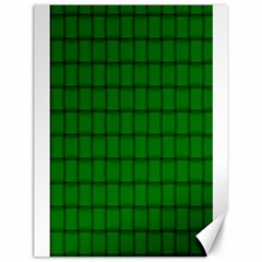 Green Weave Canvas 18  X 24  (unframed)