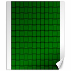 Green Weave Canvas 20  x 24  (Unframed)