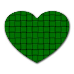 Green Weave Mouse Pad (Heart)