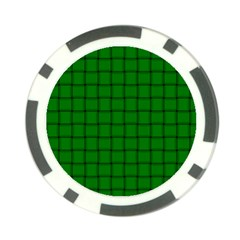 Green Weave Poker Chip