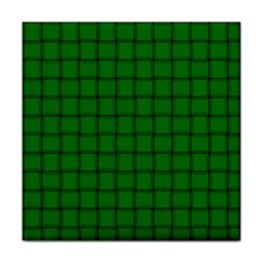 Green Weave Face Towel