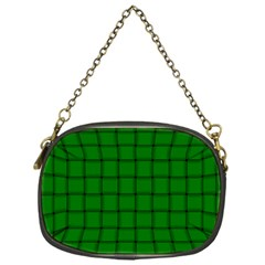 Green Weave Chain Purse (One Side)