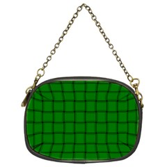 Green Weave Chain Purse (two Side)
