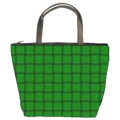 Green Weave Bucket Bag