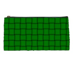 Green Weave Pencil Case