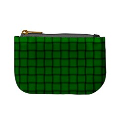 Green Weave Coin Change Purse