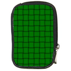 Green Weave Compact Camera Leather Case
