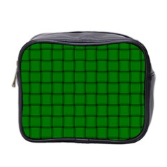 Green Weave Mini Travel Toiletry Bag (Two Sides)
