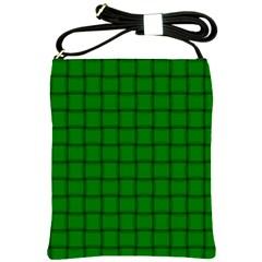 Green Weave Shoulder Sling Bag