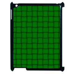 Green Weave Apple iPad 2 Case (Black)