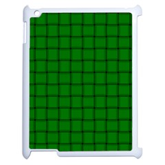 Green Weave Apple iPad 2 Case (White)