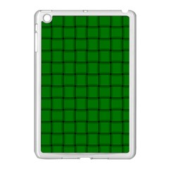 Green Weave Apple iPad Mini Case (White)