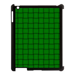 Green Weave Apple iPad 3/4 Case (Black)